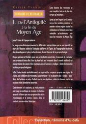 Histoire de revenants t.1 ; de l'antiquité à la fin du moyen âge - 4ème de couverture - Format classique