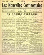 Nouvelles Continentales (Les) N°124 du 31/07/1943 - Couverture - Format classique
