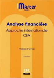 Vente  Analyse financiere  approche internationale  cfa  - Philippe Thomas