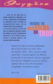 Marre De Mes Kilos En Trop - 4ème de couverture - Format classique