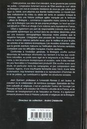 La Bretagne au XVIII siècle, 1675-1789 - 4ème de couverture - Format classique