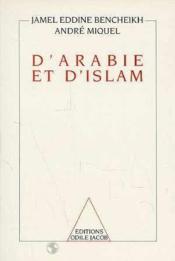 D'Arabie Et D'Islam - Couverture - Format classique