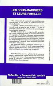 Les Sous-Mariniers Et Leurs Familles ; Et Si L'Absence Du Pere N'Etait Pas Un Probleme - 4ème de couverture - Format classique