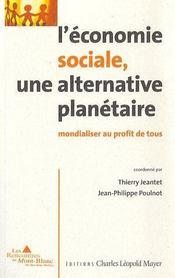 Economie Sociale, Une Alternative Planetaire - Couverture - Format classique