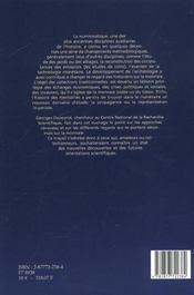 Numismatique Antique Et Medievale En Occident - 4ème de couverture - Format classique