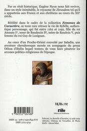 Sybille, reine de Jérusalem - 4ème de couverture - Format classique