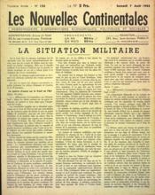 Nouvelles Continentales (Les) N°125 du 07/08/1943 - Couverture - Format classique