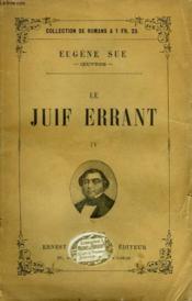 Le Juif Errant. Tome 4. - Couverture - Format classique
