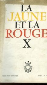 La Jaune Et La Rouge X - N°214 - Couverture - Format classique