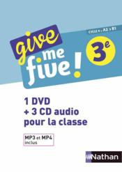 Vente livre :  Give me five ! ; anglais ; 3e (édition 2017)  - M Brusson - H Hadrian - Collectif - Michel Brusson - Helene Adrian