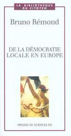 De la démocratie locale en Europe - Intérieur - Format classique