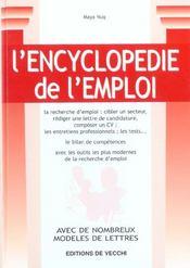 L'Encyclopedie De L'Emploi - Intérieur - Format classique