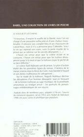 Le Voleur Et Les Chiens - 4ème de couverture - Format classique