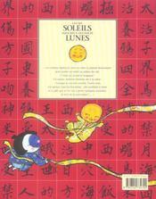 Les Dix Soleils Amoureux Des Douze Lunes - 4ème de couverture - Format classique