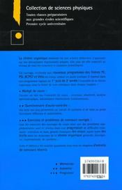 Exercices Et Problemes De Chimie Organique 4e Edition - 4ème de couverture - Format classique