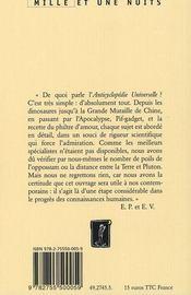 Anticyclopedie Universelle - 4ème de couverture - Format classique