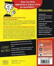 Le pc pour les nuls (13e edition) - 4ème de couverture - Format classique