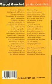 Marcel Gauchet - 4ème de couverture - Format classique