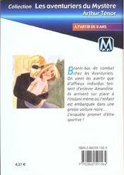 Les aventuriers du mystère t.5 ; le cauchemar d'Amandine - 4ème de couverture - Format classique