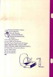 Longueurs et retranchements - 4ème de couverture - Format classique
