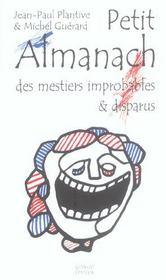 Petit Almanach Des Metiers Improbables Et Disparus - Intérieur - Format classique