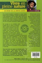 Vivre en pleine nature ; le guide de la survie douce - 4ème de couverture - Format classique