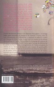 Dictionnaire des chansons de sylvie vartan - 4ème de couverture - Format classique