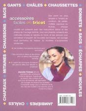 Accessoires faciles en tricot - 4ème de couverture - Format classique