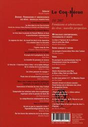 Coq Heron 191 - Frondaisons Et Arborescences Des Reves : Nouvelles Perspectives - 4ème de couverture - Format classique