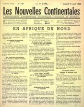 Nouvelles Continentales (Les) N°127 du 21/08/1943 - Couverture - Format classique