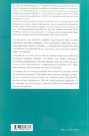 Equations Aux Derivees Partielles Et Leurs Approximations Niveau M1 Cours Et Exercices Corriges - 4ème de couverture - Format classique
