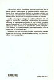 Bacteriofiches Techniques En Bacteriologie Clinique - 4ème de couverture - Format classique