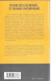 Un Demi Siecle De Musique ; Et Toujours Contemporaine - 4ème de couverture - Format classique