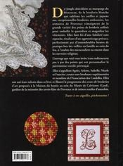 Broderies de Provence ; point par point - 4ème de couverture - Format classique