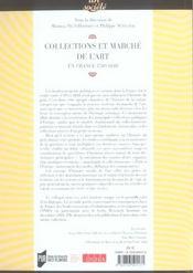 Collections et marche de l art en europe a l epoque moderne - 4ème de couverture - Format classique
