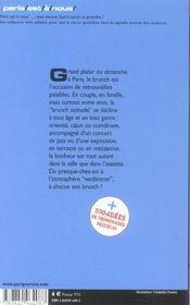 Les Meilleurs Brunchs De Paris - 4ème de couverture - Format classique