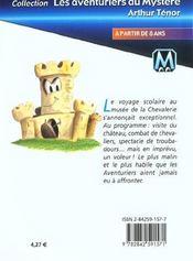 Les aventuriers du mystère t.6 ; cache-cache au musée de la chevalerie - 4ème de couverture - Format classique