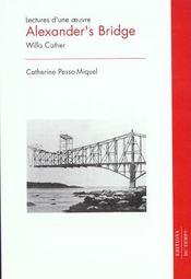 Alexander'S Bridge De W Cather - Intérieur - Format classique