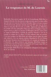 Vengeance De M De Louvois - 4ème de couverture - Format classique