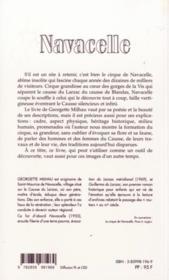 Navacelle - 4ème de couverture - Format classique