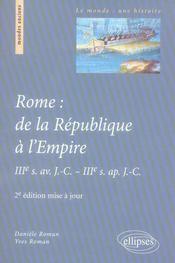 Rome De La Republique A L'Empire Iiie S.Av.J.-C.-Iiie S.Ap.J.-C.2e Edition Mise A Jour - Intérieur - Format classique