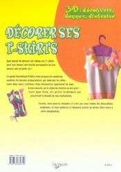 3d Decorer Ses Tee Shirts - 4ème de couverture - Format classique