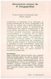 Rencontres autour de Pierre Fougeyrollas - 4ème de couverture - Format classique
