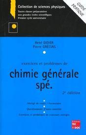 Exercices et problemes de chimie generale speciale 2e edition - Intérieur - Format classique