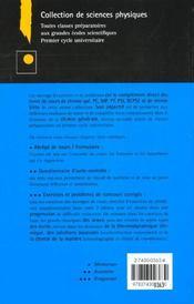 Exercices et problemes de chimie generale speciale 2e edition - 4ème de couverture - Format classique