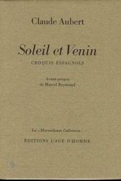 Soleil Et Venin - Couverture - Format classique