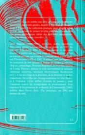 Postface - un journal critique de l'avant-garde - 4ème de couverture - Format classique