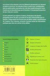 Arbres Et Arbustes - Atlas De Poche - 4ème de couverture - Format classique
