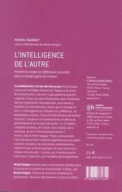 L'intelligence de l'autre - 4ème de couverture - Format classique