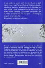 La vie tout entiere ; invitation aux poetes - 4ème de couverture - Format classique